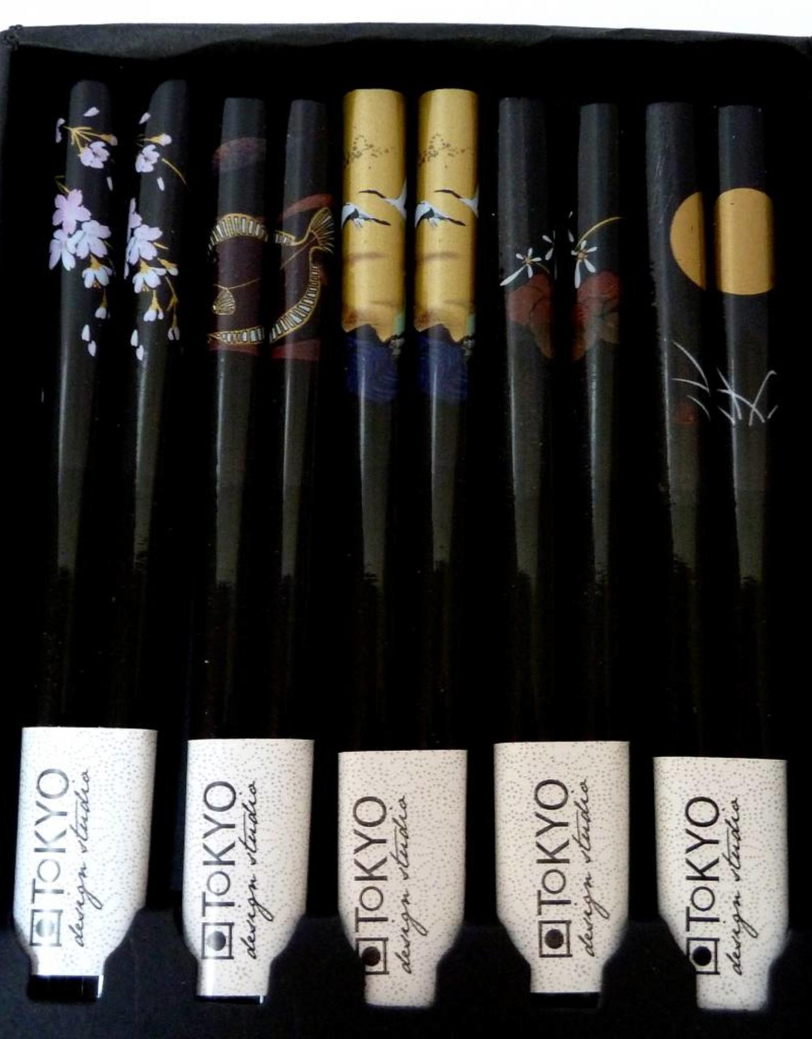 Tokyo Design Studio Japanese black luxury chopsticks