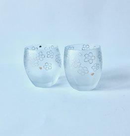 Glass Sakura Rock Gift Set (2 pieces)