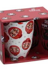 Tokyo Design Studio Witte mok met kleine Daruma's
