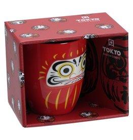 Tokyo Design Studio Rode Daruma mok in geschenkdoos