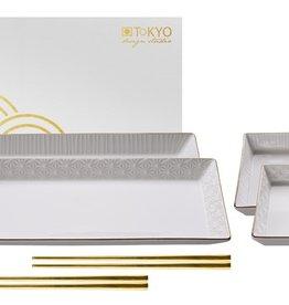 Tokyo Design Studio Nippon White sushi set voor twee personen