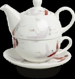 RoyalTea Tea for one tea set crane