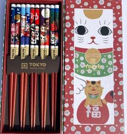 Tokyo Design Studio Chopsticks Maneki Neko (lucky cat)