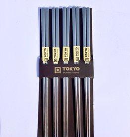 Japanse zilveren chopsticks (rvs)