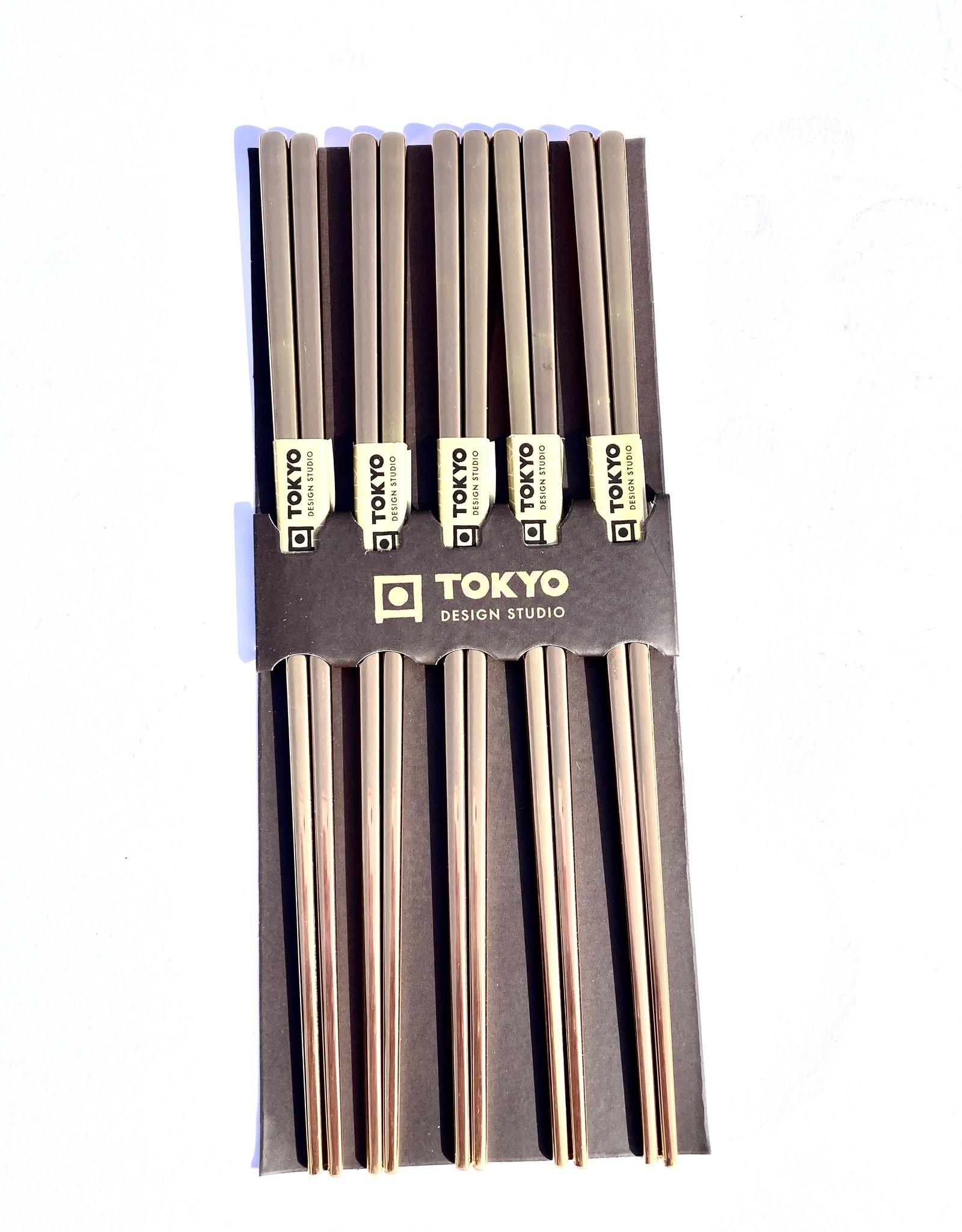 Tokyo Design Studio chopsticks roestvrij staal goud