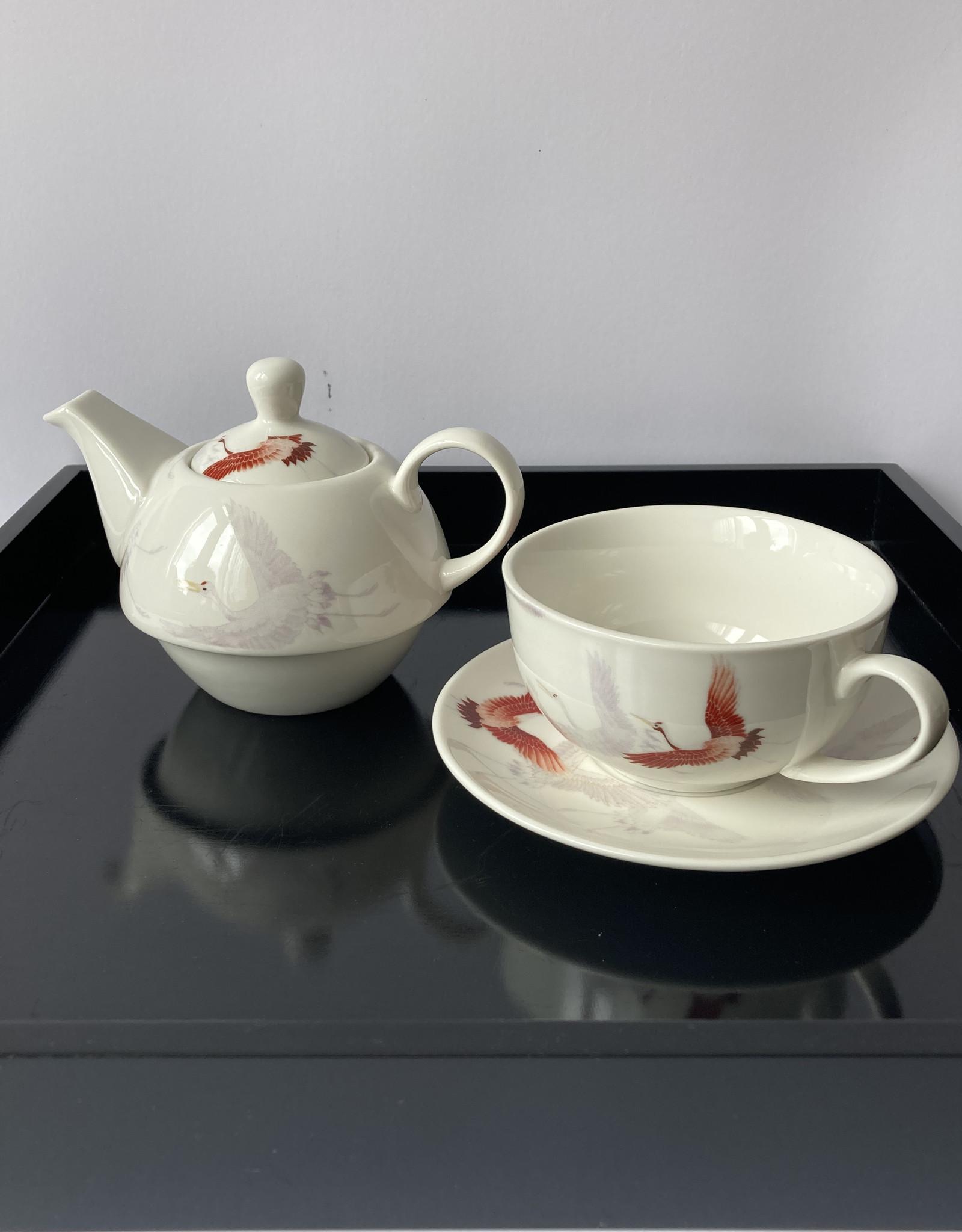 Royal tea Roylal Tea Tea for one theeset kraanvogel