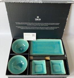 Tokyo Design Studio Sushi gift set Glassy Turquoise