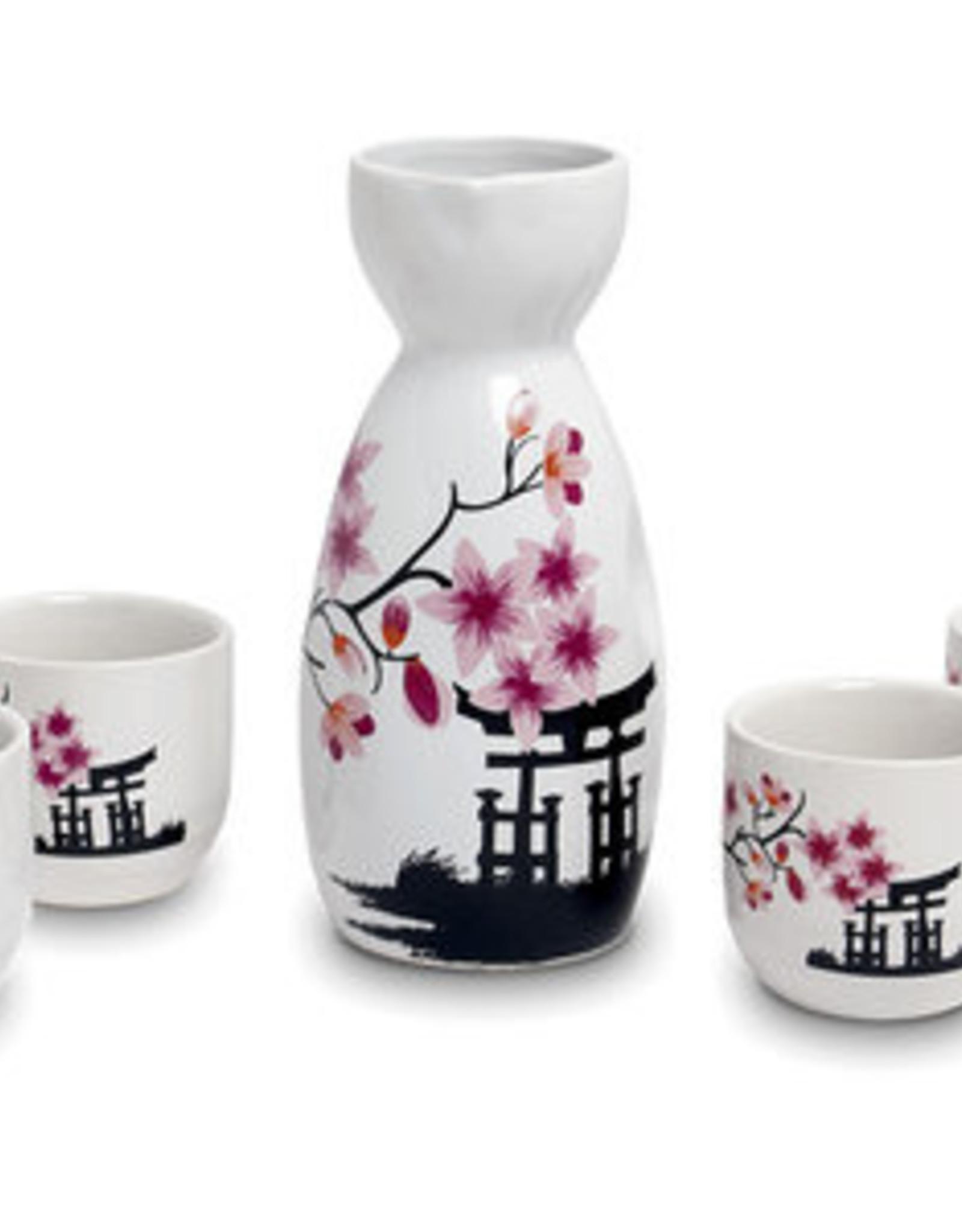 Japanse sake set tori in de lente