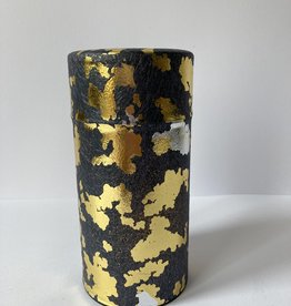 Tea tin black gold