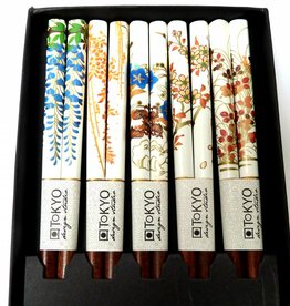 Tokyo Design Studio Chopsticks white with Japanese flowers