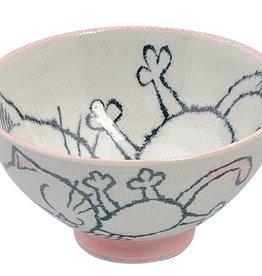 Tokyo Design Studio Soup bowl cat (pink)