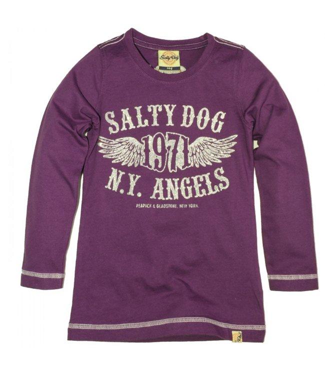 Salty Dog Kinderkleding.Salty Dog T Shirt Purple Wintercollectie Meisjes Kinderjas Com