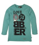 Dobber T-shirt green jungle, wintercollectie meisjes