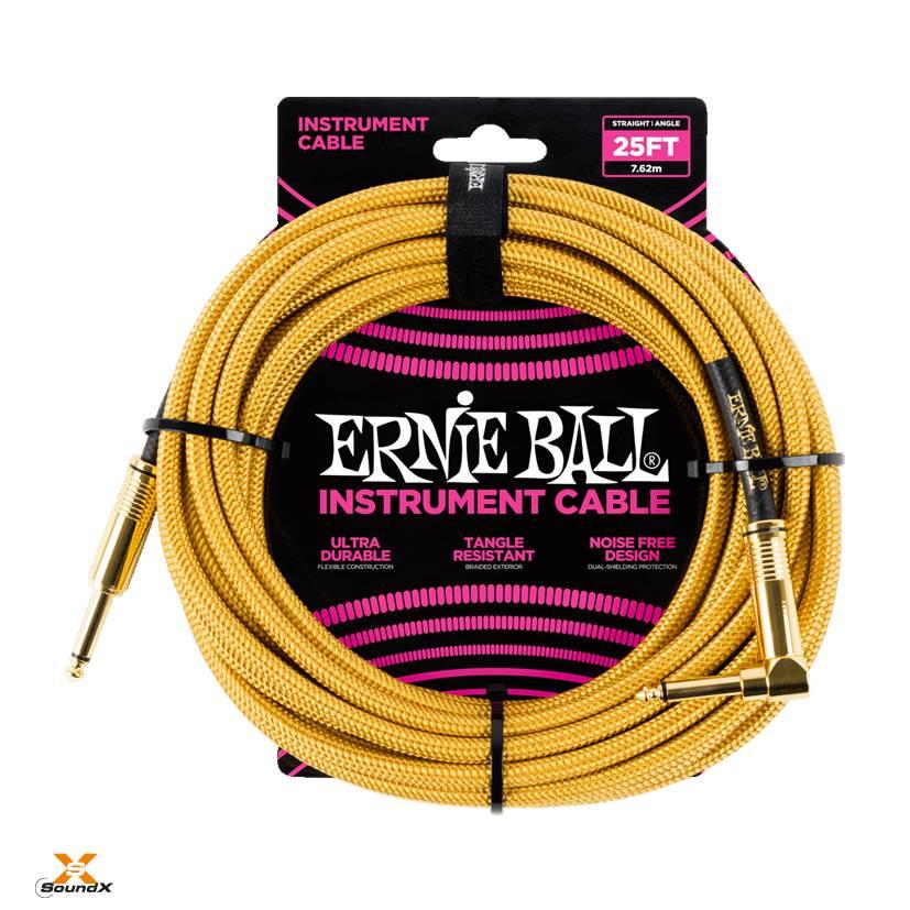 Ernie Ball Ernie Ball Instrumentenkabl Gold/Gold