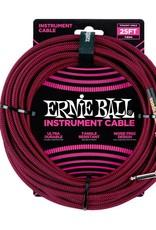 Ernie Ball Ernie Ball Instrumentenkabl Schwarz/Rot