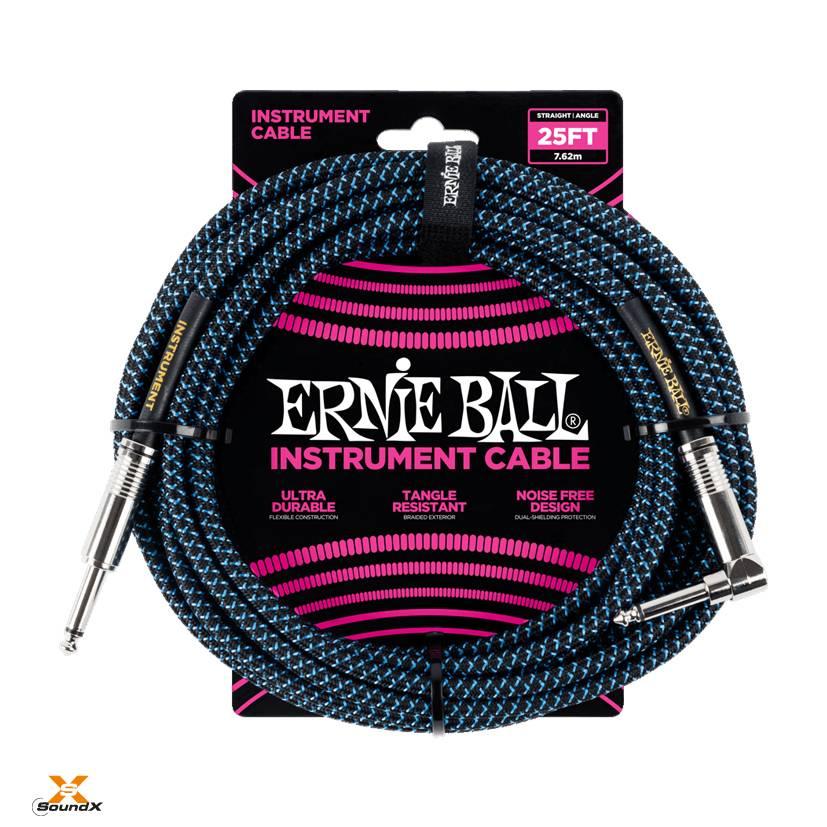 Ernie Ball Ernie Ball Instrumentenkabl Schwarz/Blau