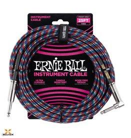 Ernie Ball Ernie Ball Instrumentenkabl Blau/Rot/Weiss