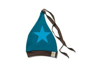ByKay Baby & peuter mutsje (4M4Y) Bruin/ Petrol/ Ster turquoise