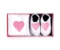 Inch Blue kraamcadeau Heart baby pink