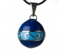 Babylonia Blauw / licht blauw met zilveren krul