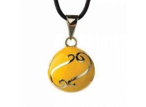 Babylonia Zwangerschapsketting geel zilver krullen