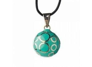 Babylonia Zwangerschapsketting turquoise cirkels