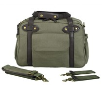 SoYoung Khaki Charlie Diaper Bag Brown Handles