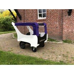 Bolderland Huifje voor Christof bolderwagen paars