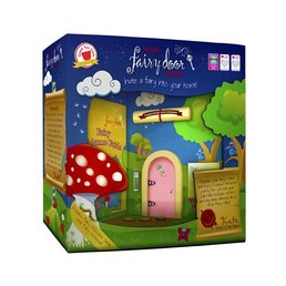 The Irish Fairy Door Company Roze rond feeëndeurtje