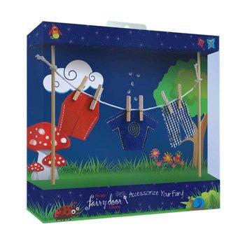 The Irish Fairy Door Company Waslijn met feeën jongenskleren