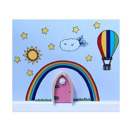 The Irish Fairy Door Company Feeëndeur Regenboog Muurdecoratieset