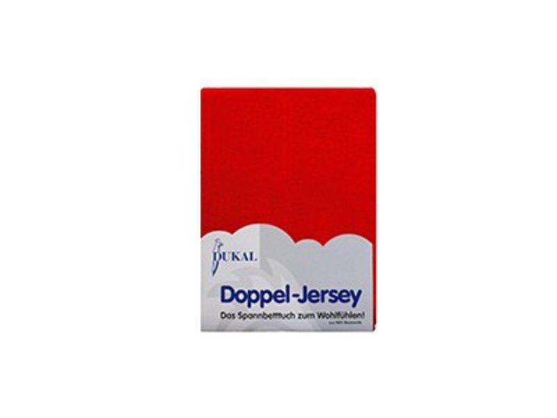 Fixleintuch Doppel-Jersey rot