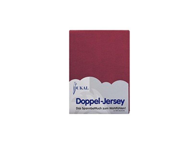 Fixleintuch Doppel-Jersey burgund