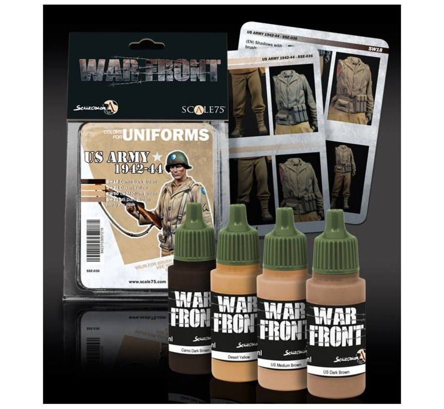 War Front US Army 1942-1944 - 4 kleuren - 17ml - SSE-036