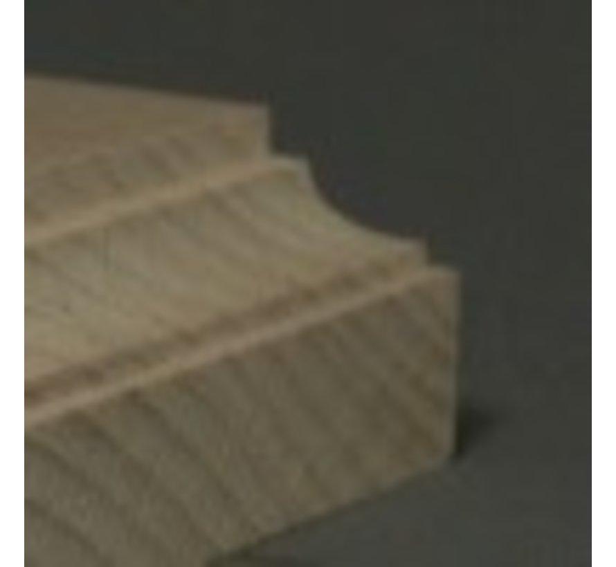 4x4cm sokkel op voet - 4x4cm-Raw-Cavetto