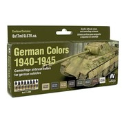 Vallejo Model Air German Colors 1940-1945 - 8 kleuren - 17ml - 71206