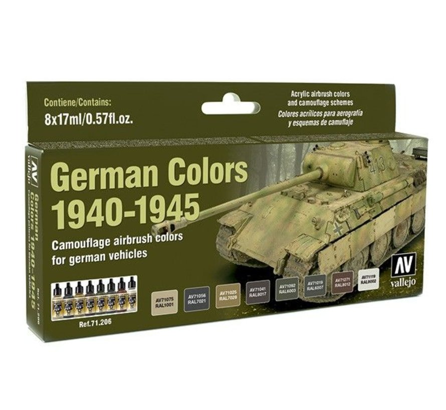 Model Air German Colors 1940-1945 - 8 kleuren - 17ml - 71206
