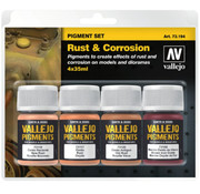 Vallejo Pigment Set Rust & Corrosion - 4 kleuren - 35ml - 73194