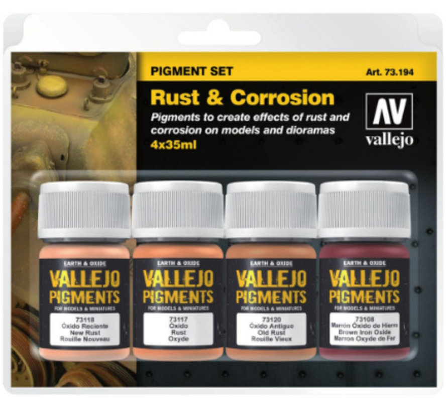 Pigment Set Rust & Corrosion - 4 kleuren - 35ml - 73194