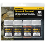 Vallejo Pigment Set Stone & Cement - 4 kleuren - 35ml - 73192
