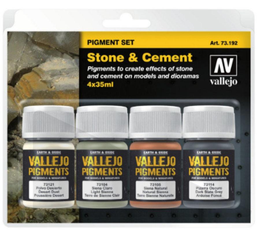Pigment Set Stone & Cement - 4 kleuren - 35ml - 73192