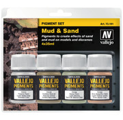 Vallejo Pigment Set Mud & Sand - 4 kleuren - 35ml - 73191