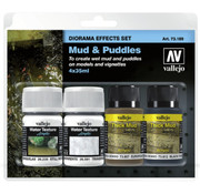 Vallejo Diorama Effects Set Mud & Puddles - 35ml - 73189