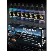 Scale 75 Sky and Ice - Blue Paint Set - 8 kleuren - 17ml - SSE-007