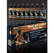 Scale 75 Wood and Leather Paint set - 8 kleuren - 17ml - SSE-004