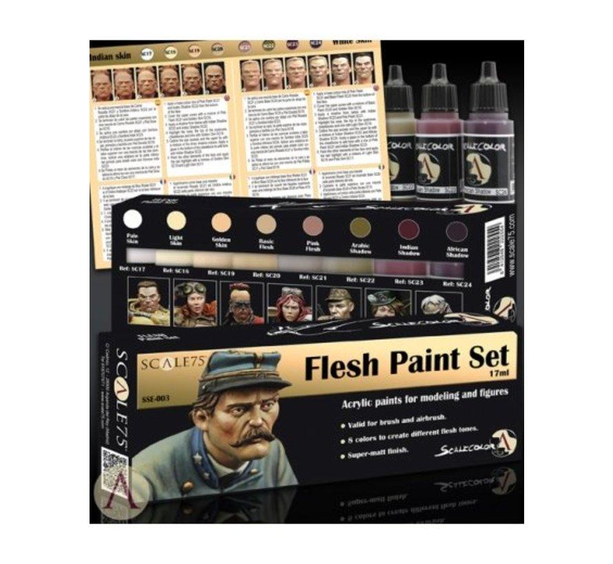 Flesh Paint Set - 8 kleuren - 17ml - SSE-003