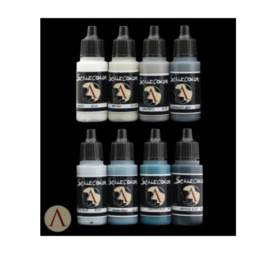 NMM Paint Set Steel - 8 kleuren - 17ml - SSE-001
