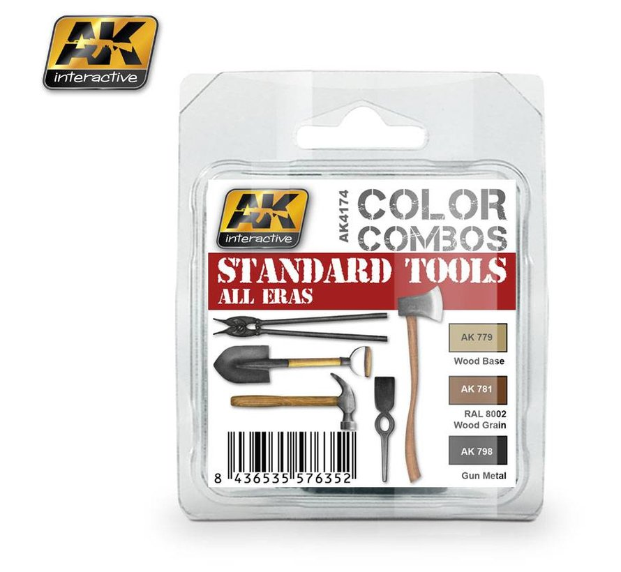 Standard Tools All Eras Color Combos - 3 colors - 17ml - AK-4174