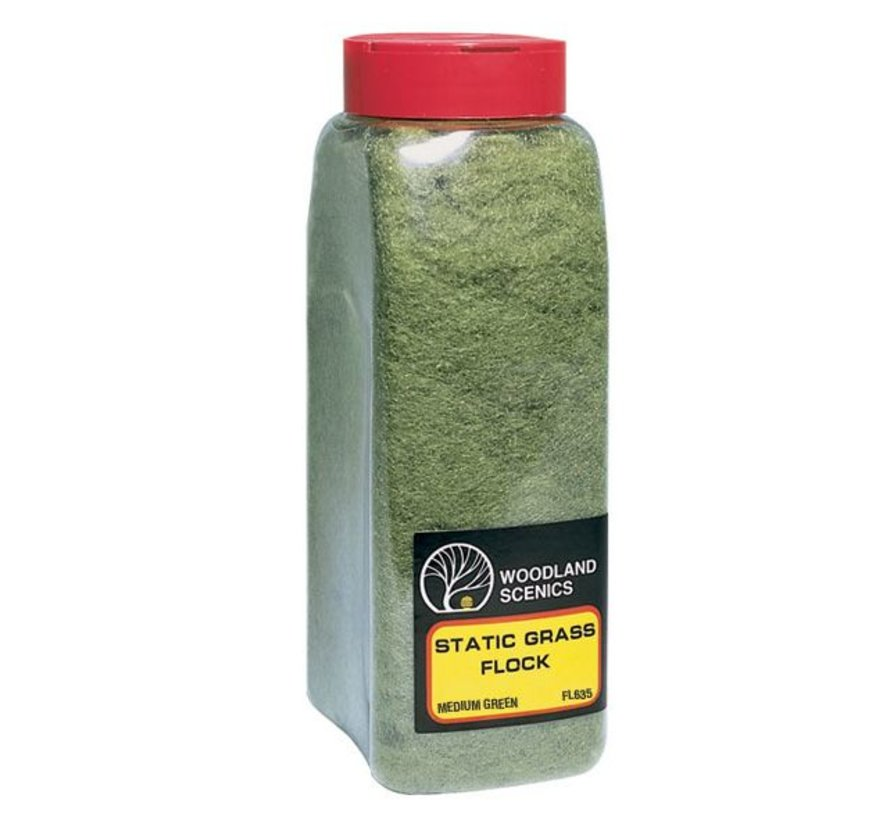 Static Grass Flock Medium Green Shaker - 945cm³ - FL635