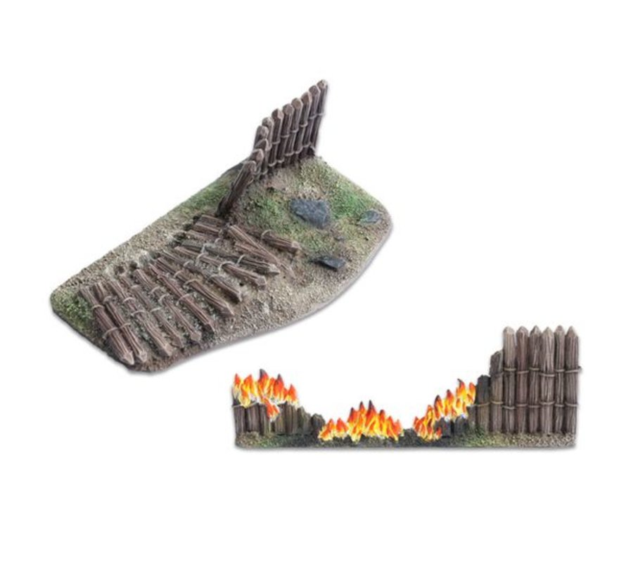 Wooden stockade destroyed 28mm - TTA800016